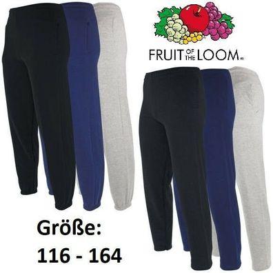 FRUIT OF THE LOOM Classic Jogginghose Trainingshose Hose 116-164 Kinder *TOP*