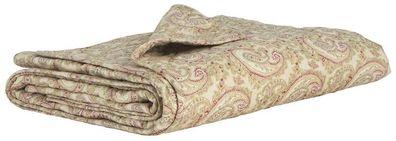 IB Laursen Plaid Decke Sofadecke Quilt braun gestreift 130 x 180 cm Streifen NEU