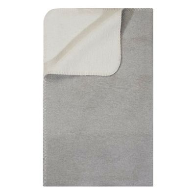 pad concept Wolldecke Madison grau Wohndecke Kuscheldecke mit Fransen