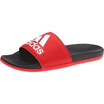 adidas Adilette Comfort Pantolette Sandale Slides CF F34722 Rot Schwarz