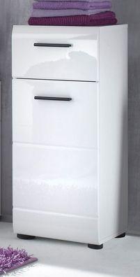 Bad Unterschrank Hängeschrank in weiß Hochglanz Alt Eiche Badezimmer Kommode SOL