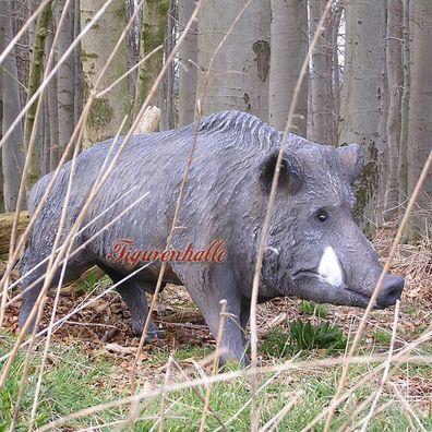 WILDSCHWEIN KEILER 90 cm lebensgross Garten Deko Figur WILD TIERE Dekoration PIG
