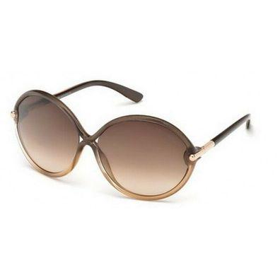 TOM FORD Damen Sonnenbrille RHI FT0252S 33G Pink Beige Beige verlauf NEU Etui