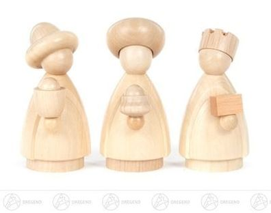 Miniaturfigur Krippe mit Kind natur Höhe ca 2cm NEU Erzgebirge Holzfigur