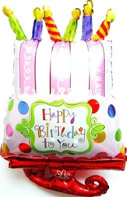 XXL Helium Folienballon Rot Geburtstag Kuchen Geschenk Torte Jubiläum Party Deko