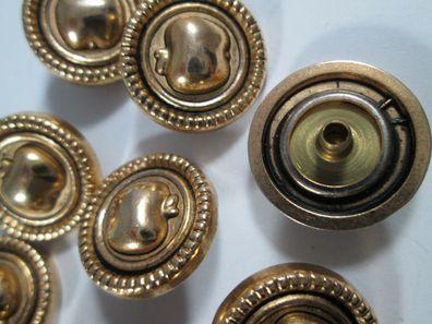 Metall  Knopf Knöpfe 10 stück   gold wappen      15  mm   #661#