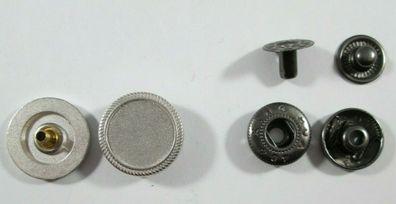 Knopf Knöpfe  30  stück  silber  weiß   knöpfe 13 mm groß   #2037#