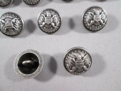 Jeans Knopf 10 stück mit Niete  silber antik  muster   knöpfe 11,5 mm   #38#