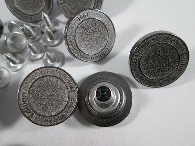 Jeans Knopf 10 stück mit Niete eisen matt mit Wappen knöpfe 18,5 mm #70#