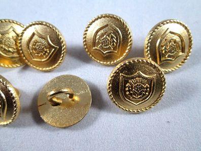 Metall  Knopf Knöpfe 11 stück gold weiß      22,5  mm   #1185#