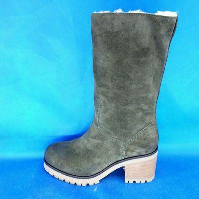Strategia Damen Winter Schuhe Boots Stiefel Allen Leder Lammfell Gr 38,5 39 40