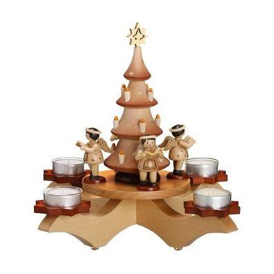 Kerzenhalter Baumdieb 8,5 cm Kerzenständer Leuchter Erzgebirge NEU Seiffen Baum