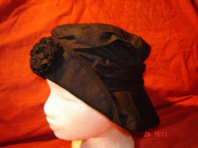 Kunstleder Winterhut schwarz Damenhut warmes Fleecefutter Regenhut