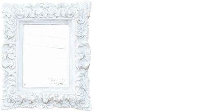"""SPIEGEL /""""Barock/"""" ANTIK DESIGN mit Rahmen silber 37x47 WAND DEKO Landhaus Shabby"""
