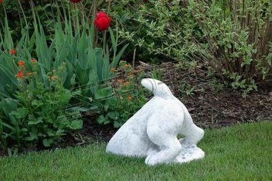 Garten Dekoration Frau 60cm Terrasse Stein Figuren Figur Deko Statue Skulptur