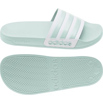adidas Adilette Shower Badeschuhe Badelatsche Mint Weiss EG1885
