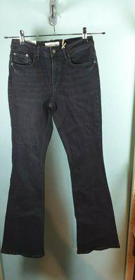 Jeans von Zara in schwarz used look Moore Black Größe 38 The Skinny Flare