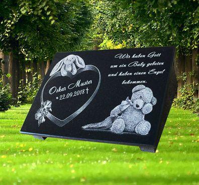Grabstein GRABPLATTE Gedenkplatte Biker 02►Gravur Ihr Text Motiv◄ 40 x 25 cm