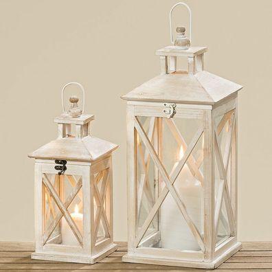 LED Laterne Holz Flammensimulation 6//18h Timer 14x14x38cm 36 LEDs f Innen