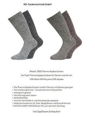 Thermosocken Trekkingsocken mit Frotteesohle Worker Socken  für Herren Gr.39-46