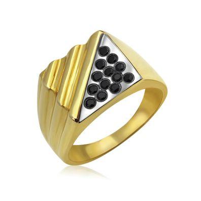 Ring Massiv Gold Herren Vintage Breit Siegelring 375 585 750 Gelbgold Steine