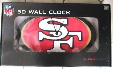 San Francisco 49ers 3D Fan Foam Logo Wanduhr,NFL Football,Relief Wall Clock