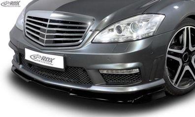 RDX Frontspoiler VARIO-X schwarz matt für MERCEDES S-Klasse W221 AMG ab 2009  ..