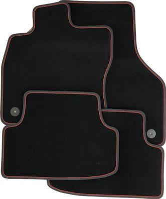 schwarz Gummifußmatten für Ford Kuga 2 Steilheck Geländewagen SUV 5-türer 2012