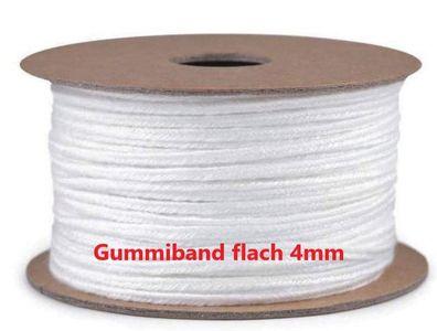 1,20€//1m Qualitäts Gummilitze 4 mm x 5 m gummi gummiband Schlüpfergummi