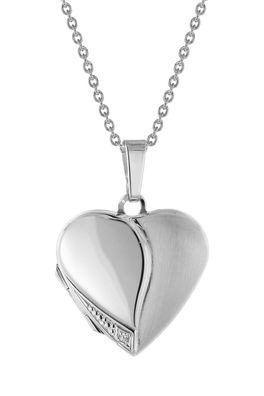 trendor Schmuck Damen Medaillon Herz mit Halskette Silber 925 75734