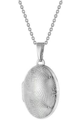 trendor Schmuck Damen Kette mit Medaillon Silber 925 75755