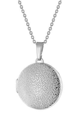 trendor Schmuck Damen Halskette mit Medaillon Silber 925 75762