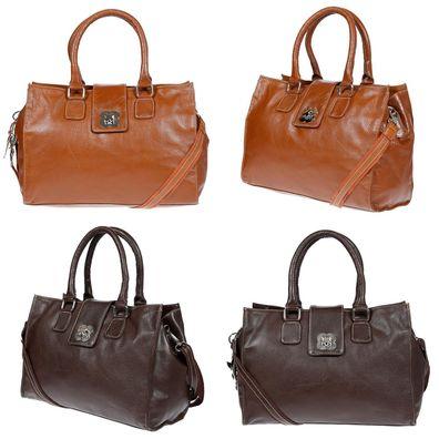 Kossberg Damen Tasche Henkeltasche Schultertasche Umhängetasche Leder Optik Bag