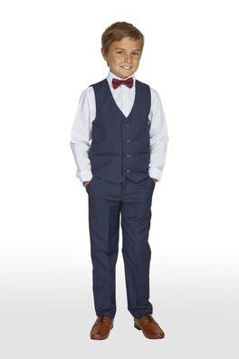 Festlicher 4tlg. Jungen Anzug Kinderanzug Kommunionsanzug dunkelblau