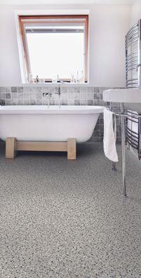 9,95 €//m² 1//2 - 4m Breite PVC Bodenbelag im Retrolook graurot