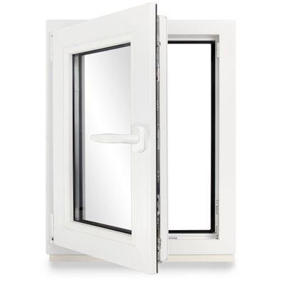 Kunststoff FIB Premium Wei/ß BxH: 110x40 cm Kunststofffenster Festverglasung 2 Fach Breite: 110 cm