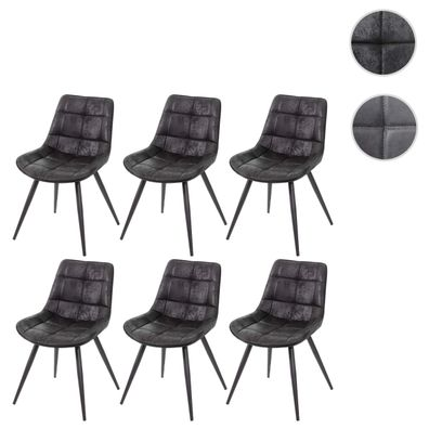 6x Esszimmerstuhl HWC E57, Stuhl Cocktailstuhl Küchenstuhl Polsterstuhl