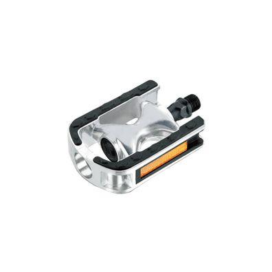 Pedale MTB//ATB Aluminium poliert//Stahl 101x83 Cr-Mo Achse schwarz Point