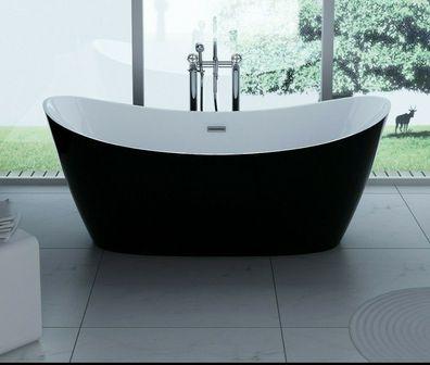 Acryl-Raumsparbadewanne Badewanne ANDRA 170 x 90 cm incl Standfüße Wannenanker