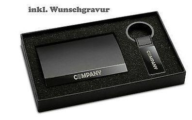 Visitenkartenetui Visitenkartenbox Und Schlüsselanhänger Set