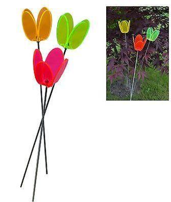 10 cm 6er Set Sonnenf/änger//Suncatcher Blumen 50 cm Edelstahl.-Stab LISA