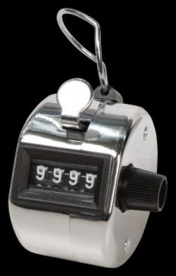 Mechanischer Handzähler 0-9999 Schrittzähler Mengen Counter Klicker Stück Zähler