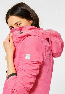 Enjoyoself Damen Kurze Regenjacke Wasserdicht Leicht Windbreaker Jacke mit Kapuze D/ünne /Übergangsjacke f/ür Fr/ühling Sommer