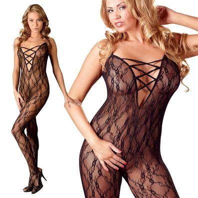 Body 95E//2XL Reizwäsche Damen-Dessous Body mit Bügel Einteiler Body in Schwarz