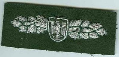 BGS:Verbandsabz.a.Leder:Muetzenstern auf gruen.Bild nur Muster.1 Stück