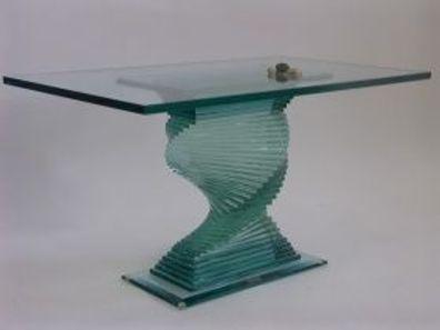 Couchtisch Glastisch Säulen griechische Medusa Tische Barock Stuckgips 6022 108