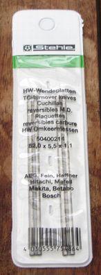 10 HW 5 Satz Hobelmesser//Wendeschneidplatten 82 mm VHM für Bosch HM