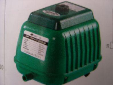 Luftpumpe 3900 l//h Kolbenkompressor Sauerstoffpumpe Teichbelüfter für Ausströmer