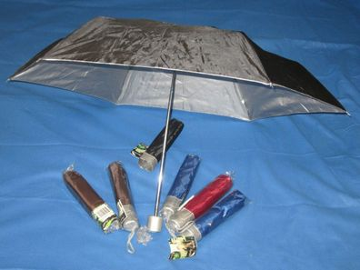 Regenschirm 90cm Taschenschirm Schirm Unifarben Miniregenschirm NEU OVP