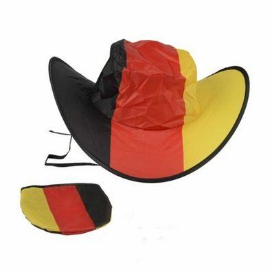 Cowboy Fan Hut in Schwarz rot gold Deutschland Fussball WM 2014